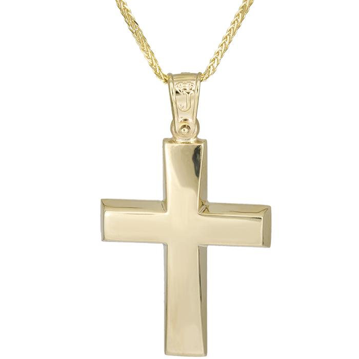 Βαπτιστικοί Σταυροί με Αλυσίδα Βαπτιστικός σταυρός Κ14 με αλυσίδα 026194C 026194C Ανδρικό Χρυσός 14 Καράτια