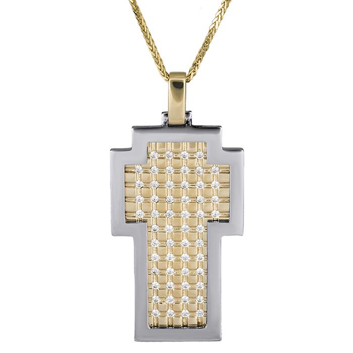 Βαπτιστικοί Σταυροί με Αλυσίδα Γυναικείος σταυρός σκακιέρα Κ14 με αλυσίδα 026314C 026314C Γυναικείο Χρυσός 14 Καράτια