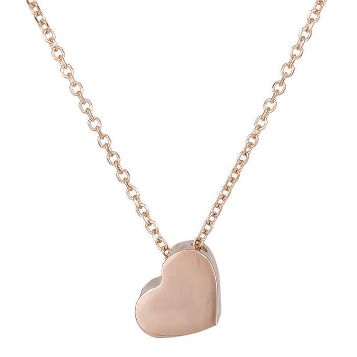 Ροζ gold κολιέ Κ14 καρδιά 026329 026329 Χρυσός 14 Καράτια