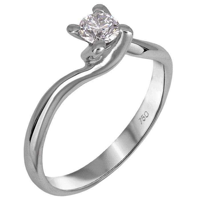 Μονόπετρο λευκόχρυσο δαχτυλίδι Κ18 με διαμάντι μπριγιάν 026343 026343 Χρυσός 18 Καράτια