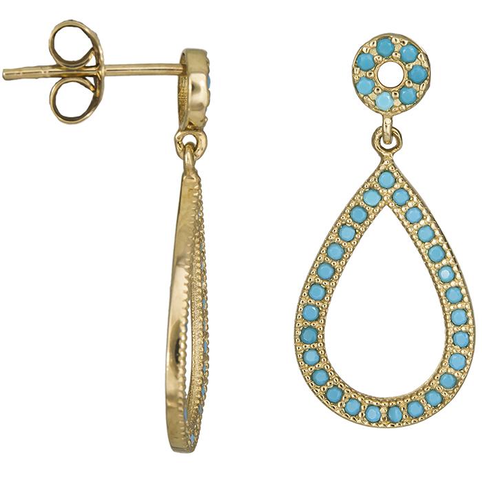 Χρυσά σκουλαρίκια δάκρυ Κ14 026399 026399 Χρυσός 14 Καράτια