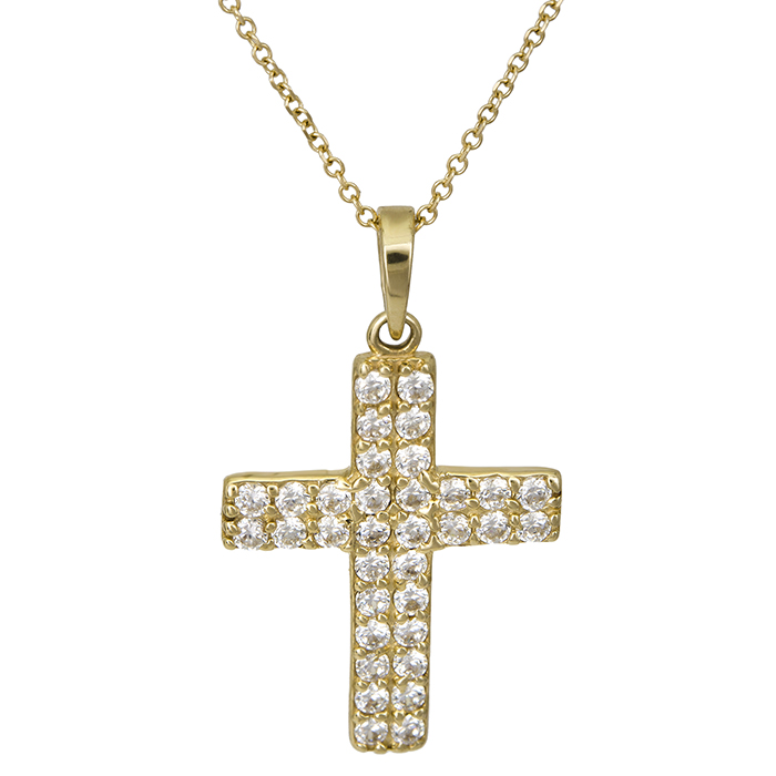 Χρυσός γυναικείος σταυρός Κ14 026419C 026419C Χρυσός 14 Καράτια