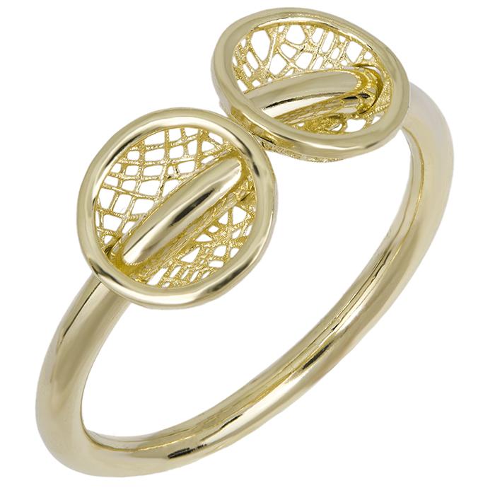 Δαχτυλίδι χρυσό Κ14 με σχέδιο 026446 026446 Χρυσός 14 Καράτια