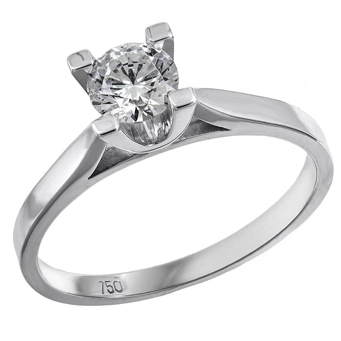 Μονόπετρο χειροποίητο με διαμάντι 019600 019600 Χρυσός 18 Καράτια