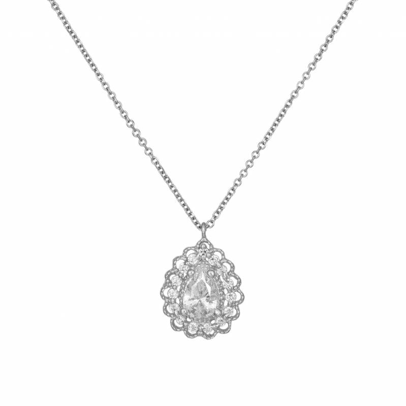 Γυναικείο λευκόχρυσο κρεμαστό Κ14 026578 026578 Χρυσός 14 Καράτια