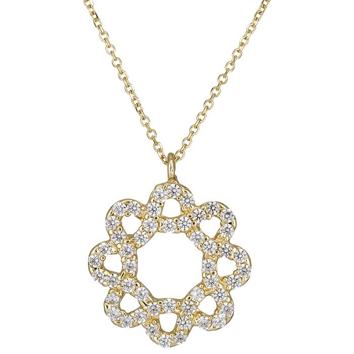 Γυναικείο χρυσό κρεμαστό στεφανάκι Κ14 026586 026586 Χρυσός 14 Καράτια