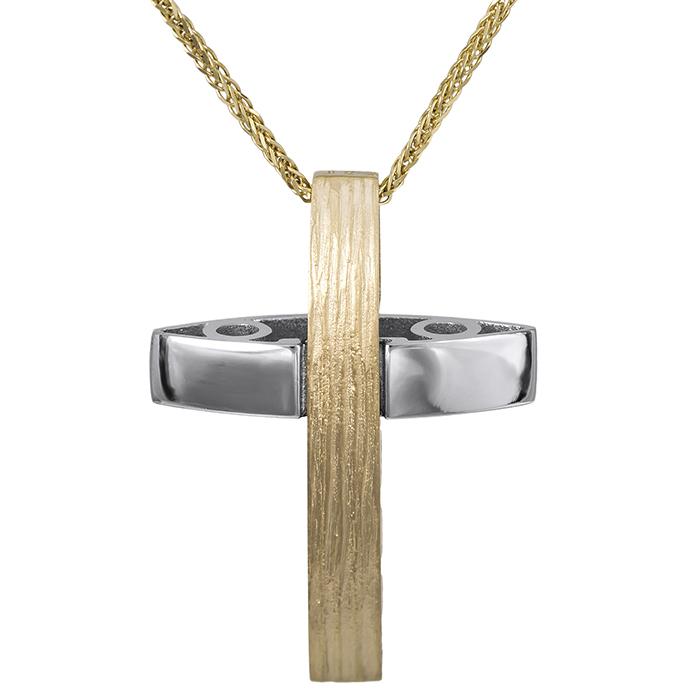 Βαπτιστικοί Σταυροί με Αλυσίδα Χειροποίητος αντρικός σταυρός Κ14 026628C 026628C Ανδρικό Χρυσός 14 Καράτια