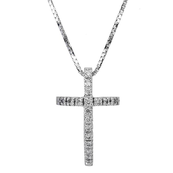 Βαπτιστικοί Σταυροί με Αλυσίδα Γυναικείος σταυρός με διαμάντια Κ18 026639 026639 Γυναικείο Χρυσός 18 Καράτια