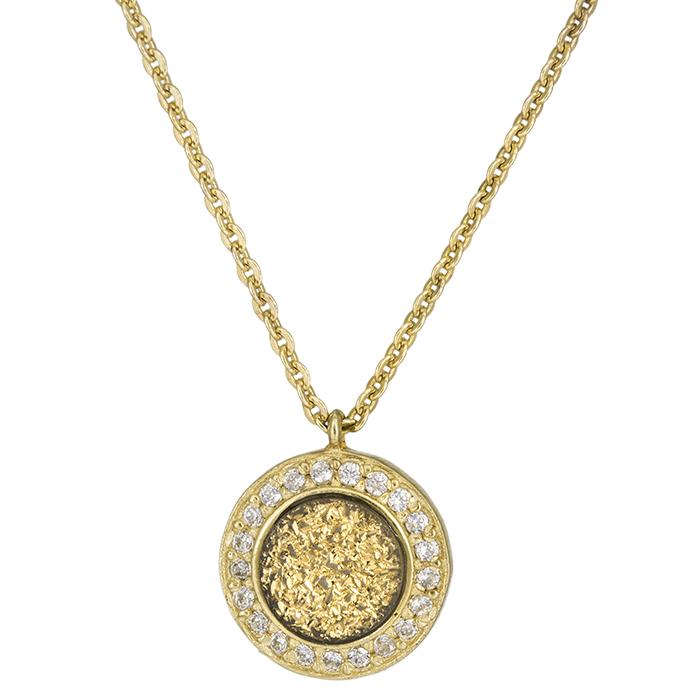 Γυναικείο χρυσό κρεμαστό ροζέτα Κ14 026656 026656 Χρυσός 14 Καράτια