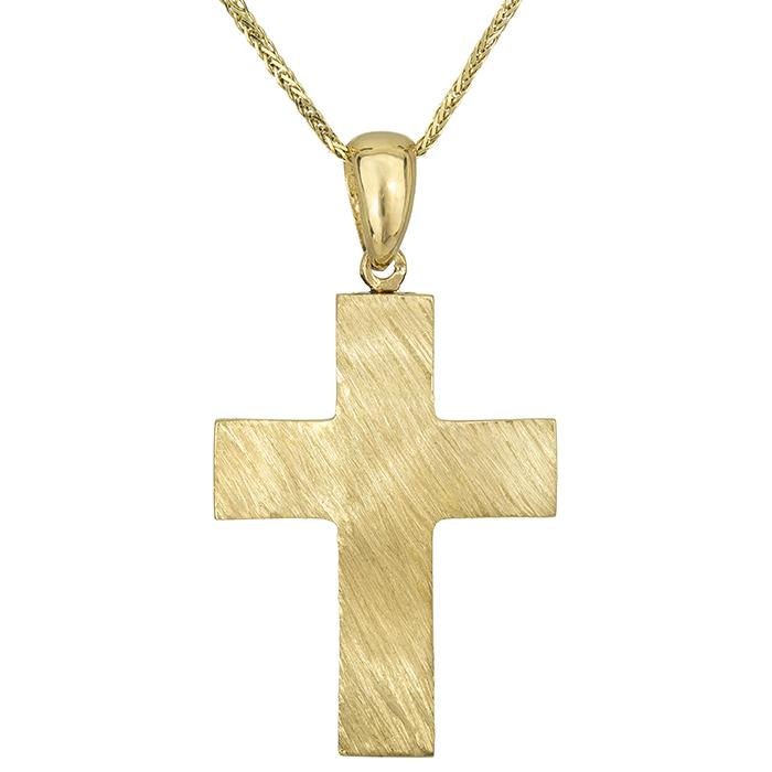 Βαπτιστικοί Σταυροί με Αλυσίδα Σταυρός βάπτισης Κ18 με αλυσίδα 026671C 026671C Ανδρικό Χρυσός 18 Καράτια