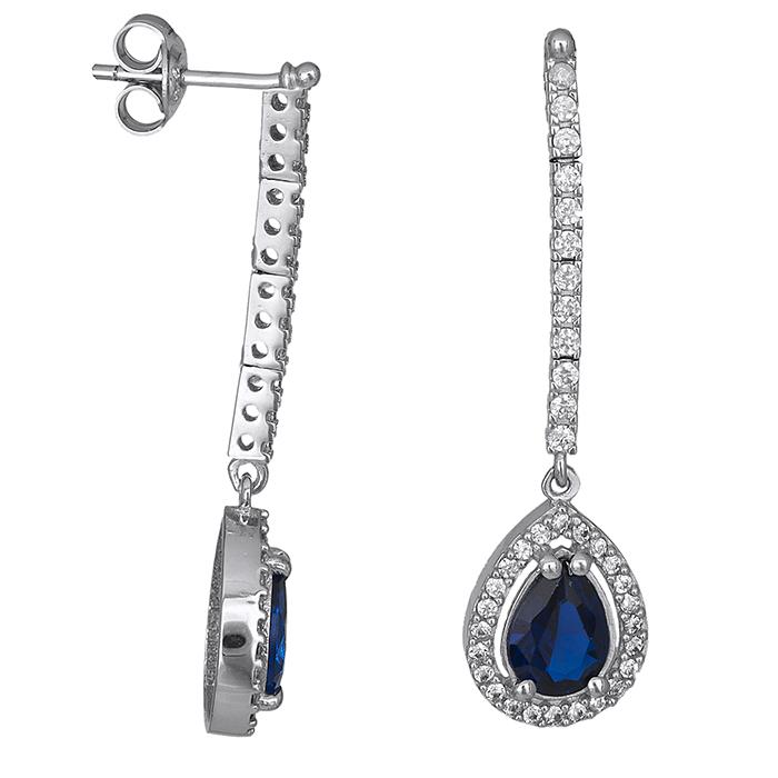 Λευκόχρυσα σκουλαρίκια Κ9 μπλε δάκρυ 026688 026688 Χρυσός 9 Καράτια 1f9a66b71f6