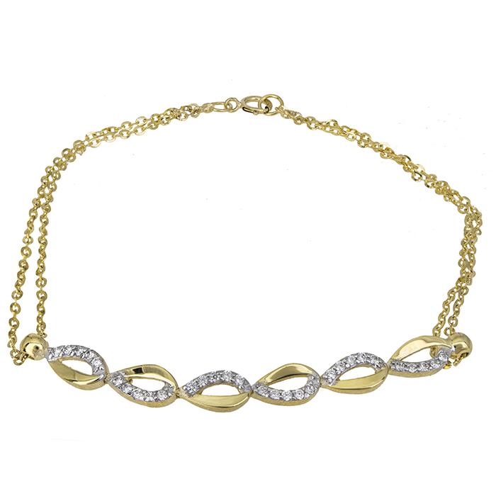 Γυναικείο χρυσό βραχιόλι Κ9 026703 026703 Χρυσός 9 Καράτια