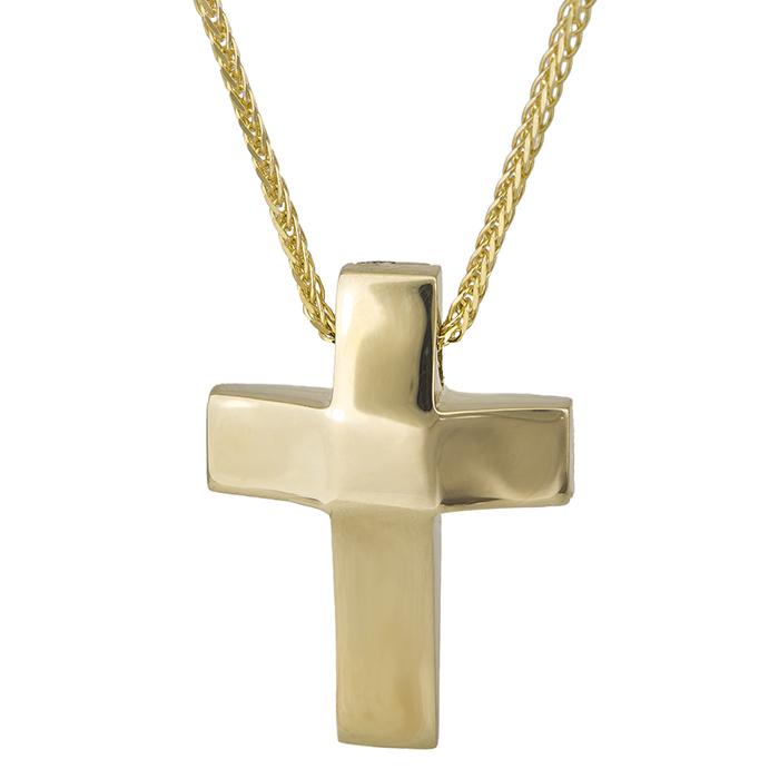 Χρυσό σταυρουδάκι Κ14 λουστρέ 026772C 026772C Χρυσός 14 Καράτια