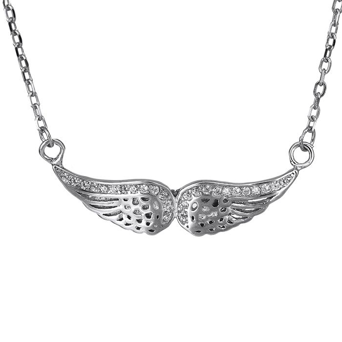 Ασημένιο κολιέ 925 φτερά αγγέλου 026864 026864 Ασήμι