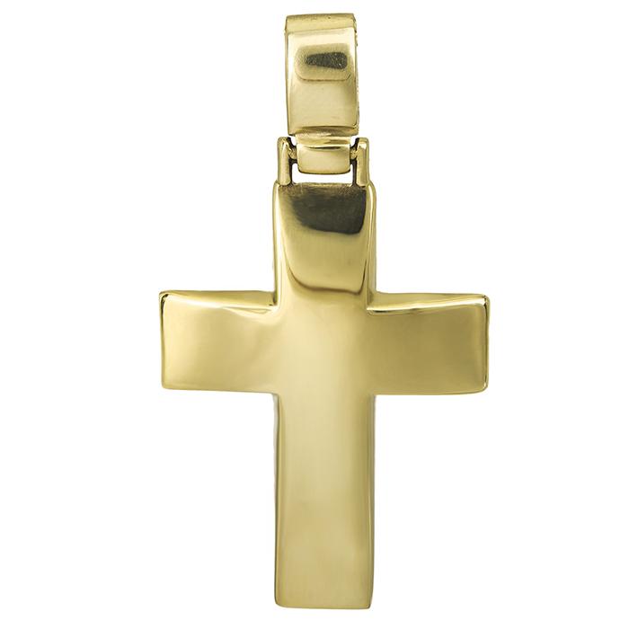Σταυροί Βάπτισης - Αρραβώνα Σταυρός χρυσός 14Κ για αγόρι 026976 026976 Ανδρικό Χρυσός 14 Καράτια