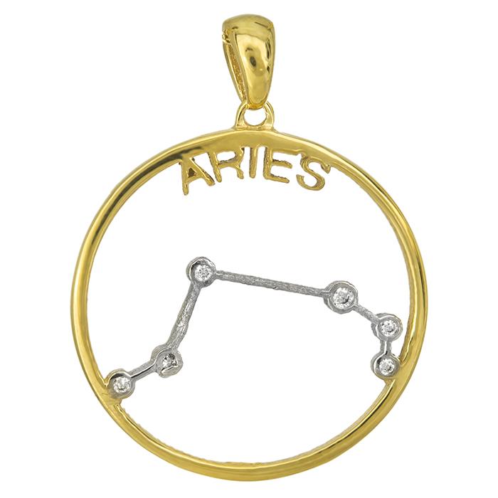 Δίχρωμο Κ14 ζώδιο του Κριού 027030 027030 Χρυσός 14 Καράτια