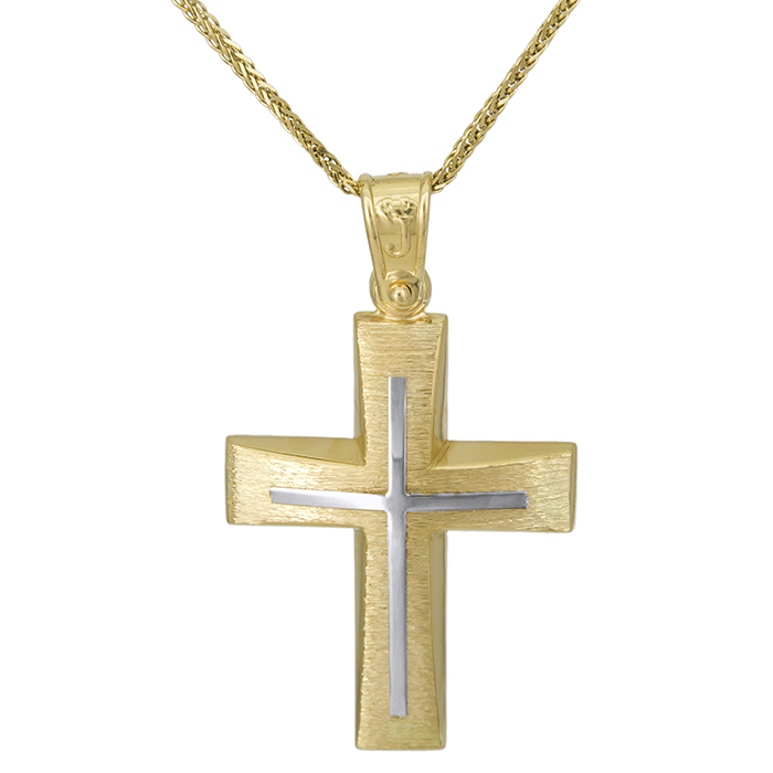 Βαπτιστικοί Σταυροί με Αλυσίδα Αντρικός σταυρός Κ14 ματ με αλυσίδα 027062C 027062C Ανδρικό Χρυσός 14 Καράτια
