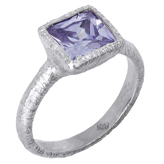 Ασημένιο δαχτυλίδι 925 ματ 027075 027075 Ασήμι