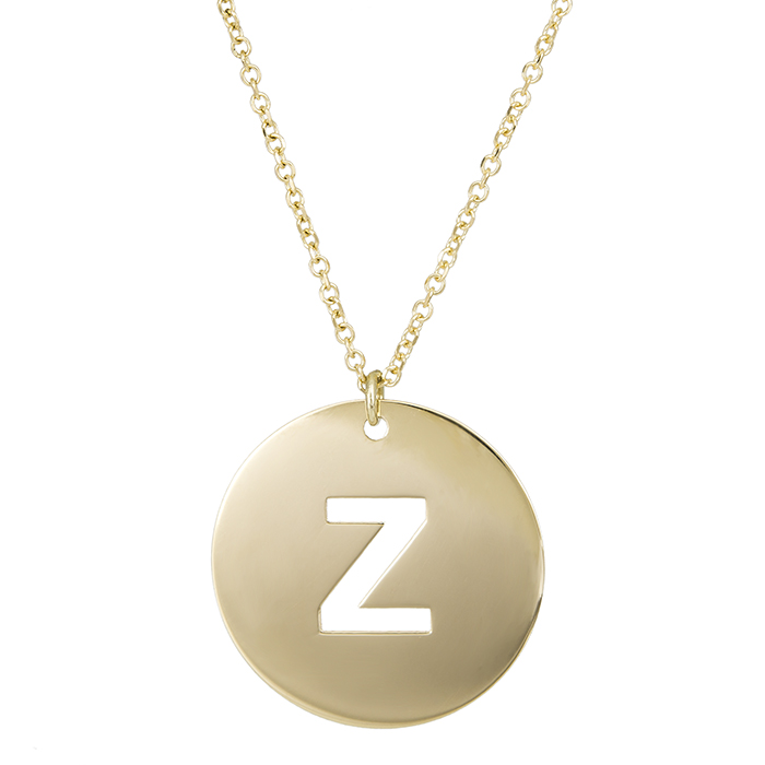 Κολιέ χρυσό Κ14 με μονόγραμμα 'Ζ' 027101 027101 Χρυσός 14 Καράτια