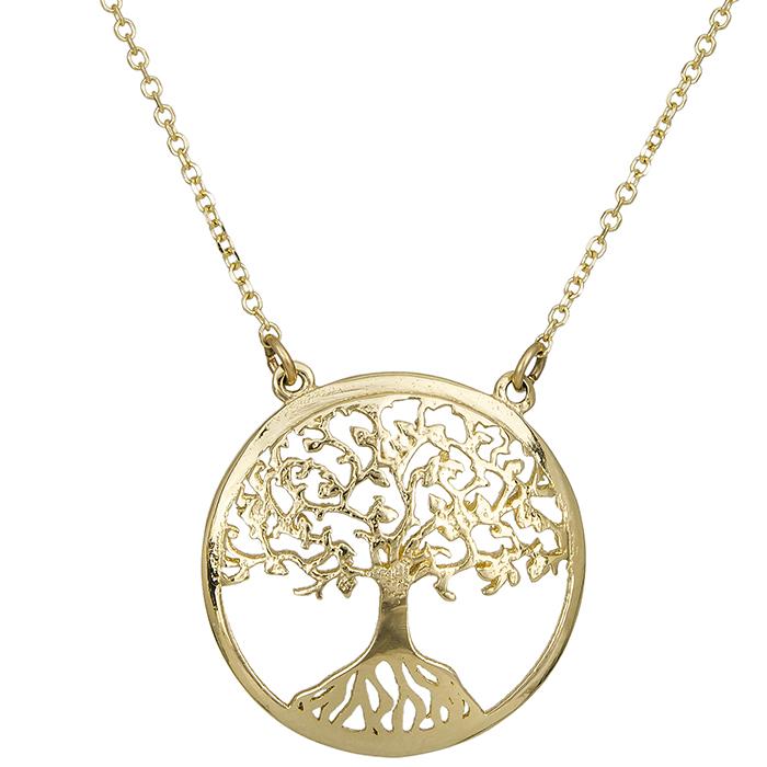 Γυναικείο κρεμαστό Κ14 δέντρο της ζωής 027120 027120 Χρυσός 14 Καράτια