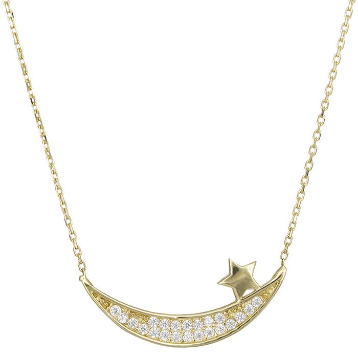 Χρυσό κολιέ Κ14 μπάρα με αστέρι 027157 027157 Χρυσός 14 Καράτια