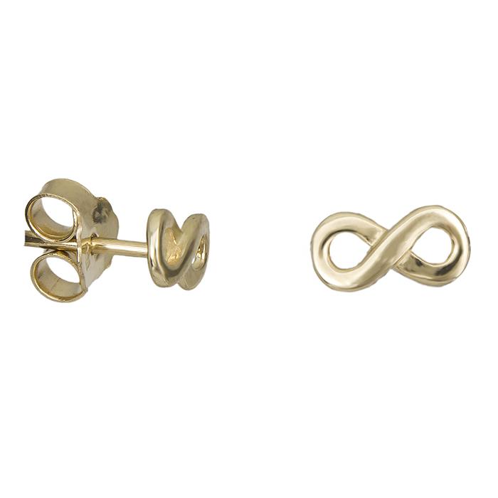 Χρυσά σκουλαρίκια Κ14 άπειρο 027159 027159 Χρυσός 14 Καράτια