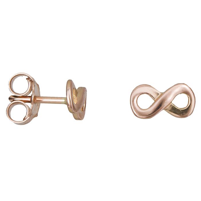 Ροζ gold σκουλαρίκια Κ14 άπειρο 027160 027160 Χρυσός 14 Καράτια