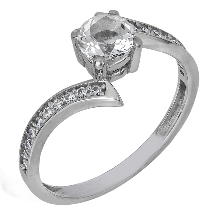 Δαχτυλίδι Swarovski Κ14 με λευκή τοπάζ 027203 027203 Χρυσός 14 Καράτια