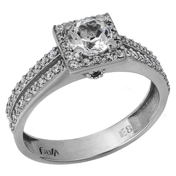 Swarovski δαχτυλίδι Κ14 με λευκή τοπάζ 027207 027207 Χρυσός 14 Καράτια