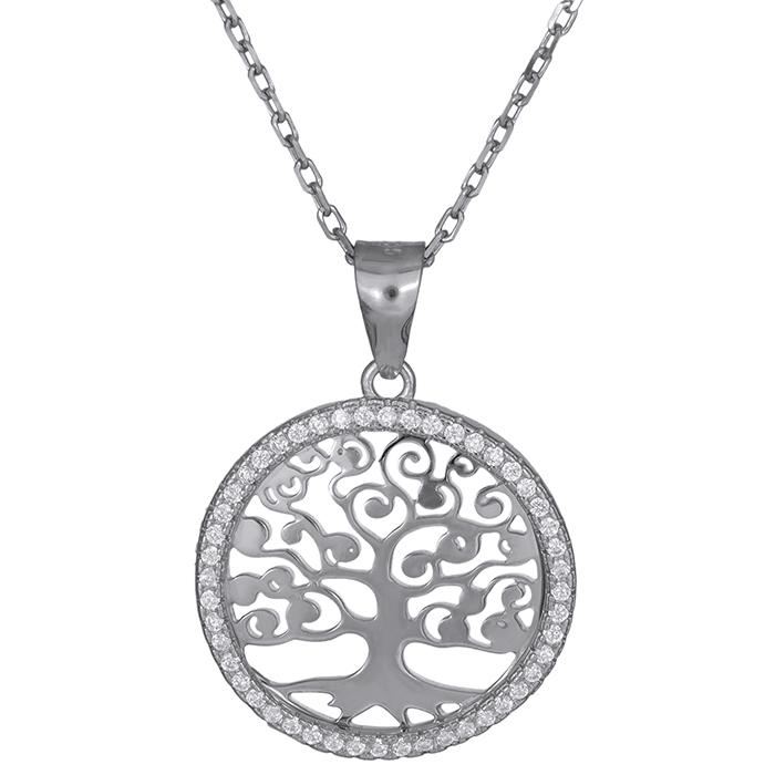 Ασημένιο γυναικείο κολιέ 925 δέντρο της ζωής 027245 027245 Ασήμι
