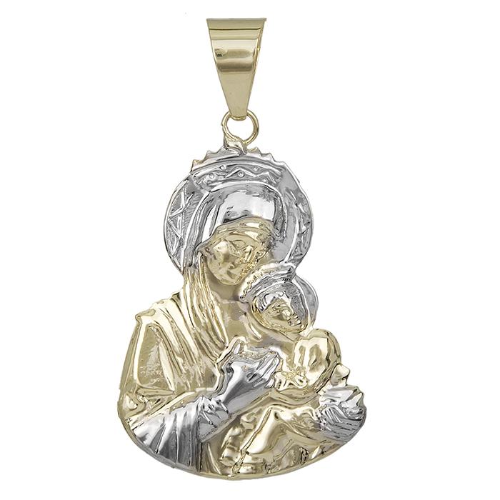 Δίχρωμο φυλαχτό Κ9 για μωράκι 027246 027246 Χρυσός 9 Καράτια