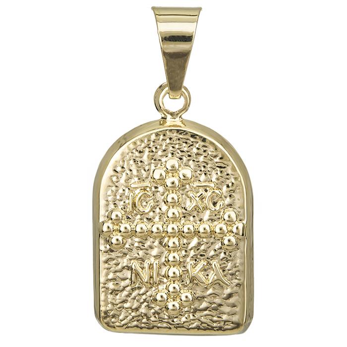 Χρυσό κωνσταντινάτο Κ14 με σταυρό 027255 027255 Χρυσός 14 Καράτια