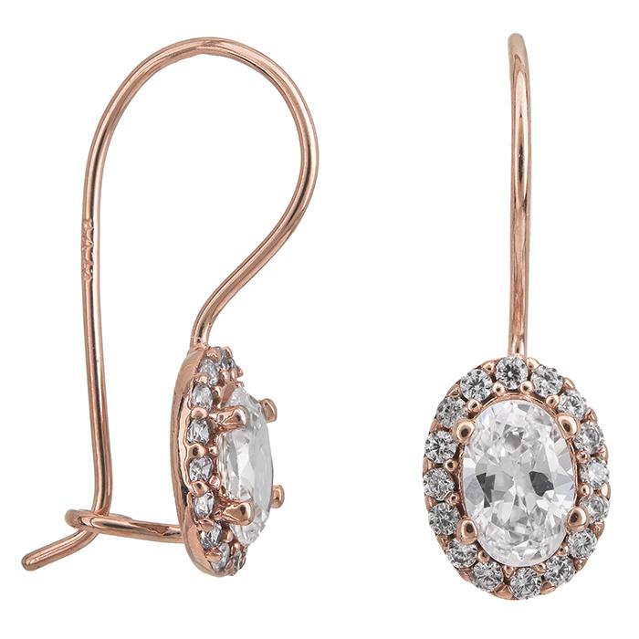 Γυναικεία σκουλαρίκια Κ14 Ροζ gold κρεμαστά 027332 027332 Χρυσός 14 Καράτια
