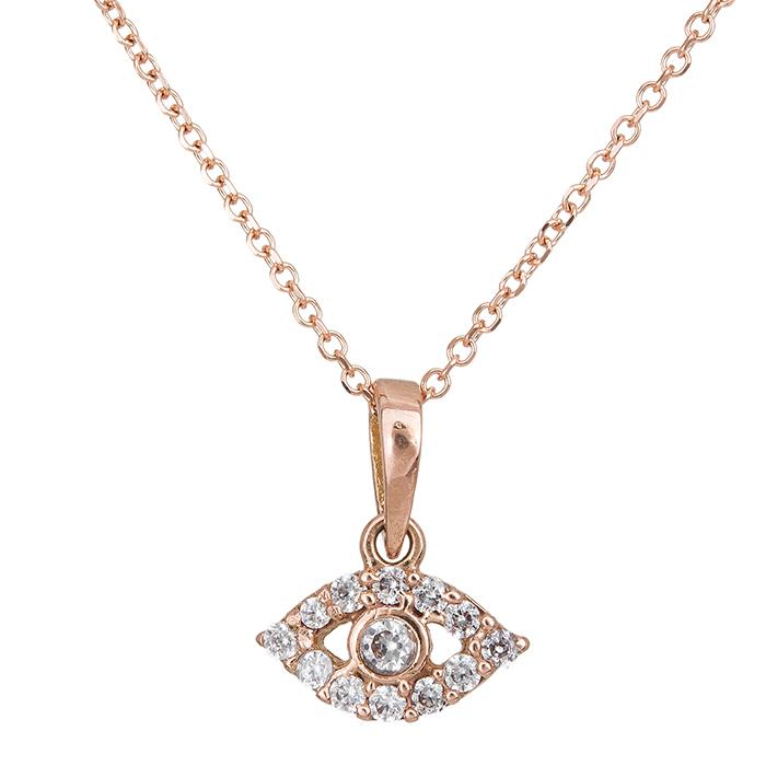 Ροζ gold κρεμαστό ματάκι Κ14 027336 027336 Χρυσός 14 Καράτια