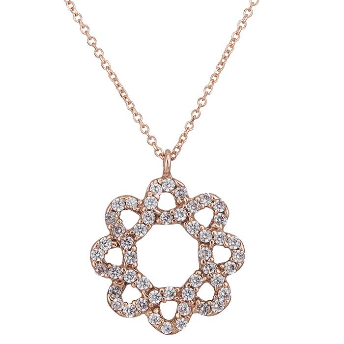 Γυναικείο κρεμαστό στεφανάκι Κ14 ροζ gold 027337 027337 Χρυσός 14 Καράτια