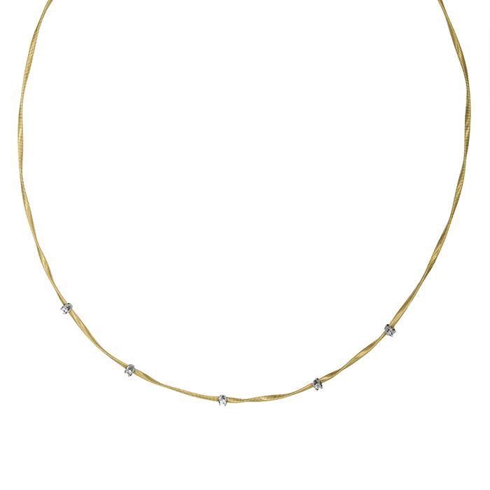 Χρυσό συρματερό κολιέ Κ14 με ζιργκόν 027370 027370 Χρυσός 14 Καράτια