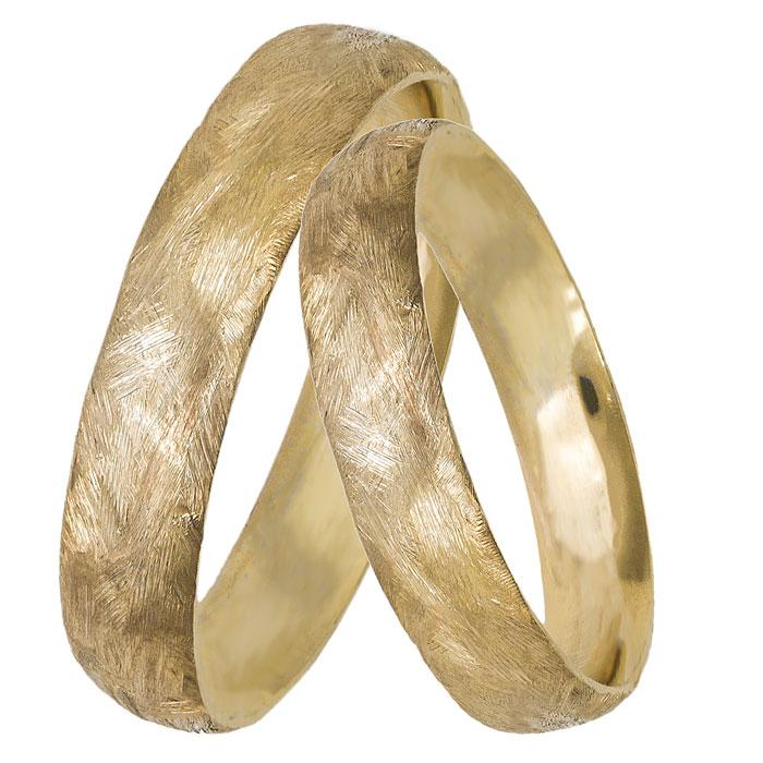 Χρυσές ματ βέρες γάμου Κ14 027417 027417 Χρυσός 14 Καράτια μεμονωμένο  τεμάχιο 41110ba7d9f