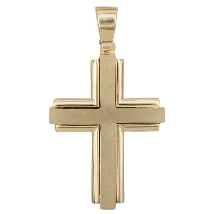 Σταυροί Βάπτισης - Αρραβώνα Χρυσός σταυρός Κ14 για αγόρι 027418 027418 Ανδρικό Χρυσός 14 Καράτια