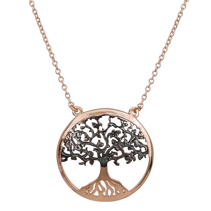 Ροζ gold κρεμαστό Κ14 δέντρο της ζωής 027544 027544 Χρυσός 14 Καράτια