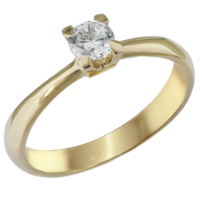 Χρυσό μονόπετρο δαχτυλίδι Κ14 027567 027567 Χρυσός 14 Καράτια bab2ce49334