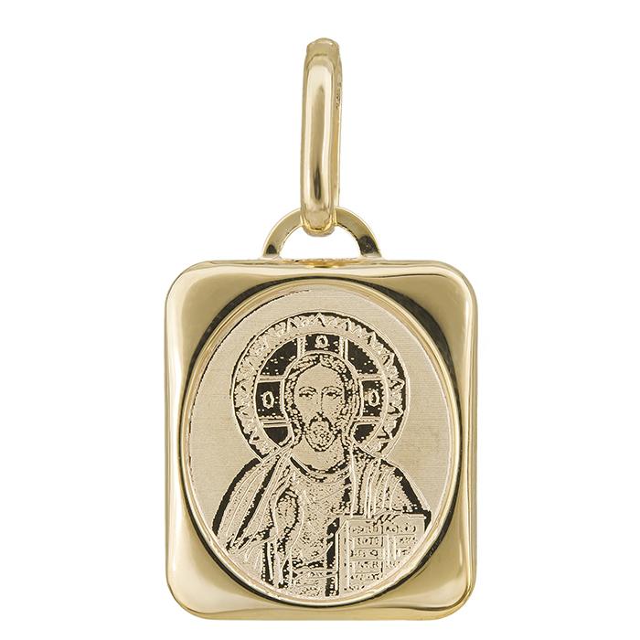 Χρυσό φυλαχτό Κ14 με τον Χριστό 027651 027651 Χρυσός 14 Καράτια