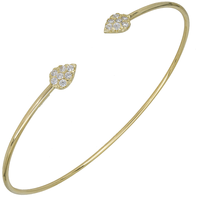 Γυναικεία χρυσή χειροπέδα Κ14 027686 027686 Χρυσός 14 Καράτια