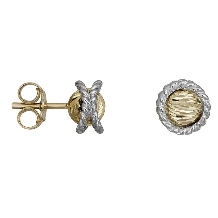 Γυναικεία ανάγλυφα σκουλαρίκια Κ14 027705 027705 Χρυσός 14 Καράτια