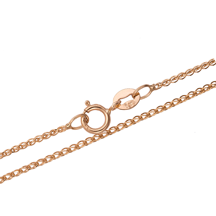 Καδένα σε ροζ χρυσό 14 καρατίων 027719 027719 Χρυσός 14 Καράτια χρυσά κοσμήματα αλυσίδες   καδένες