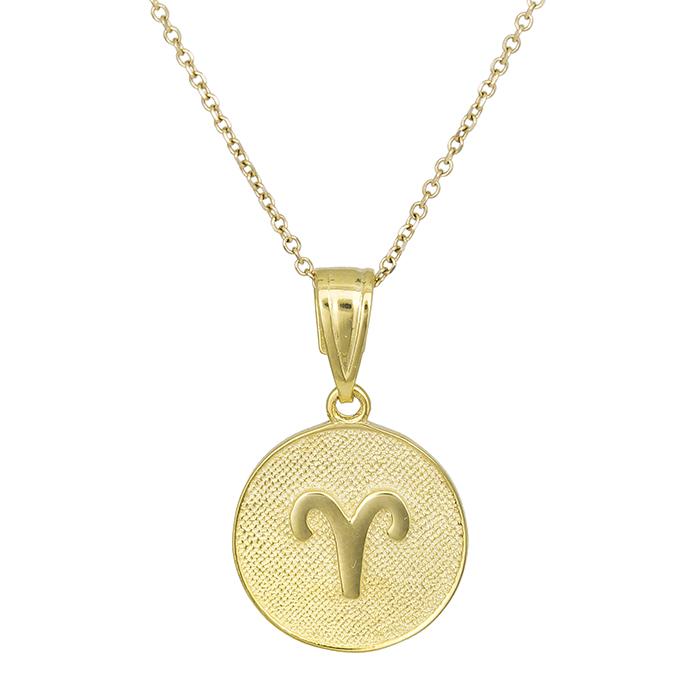 Γυναικείο κολιέ Κ9 Κριός 027742 027742 Χρυσός 9 Καράτια