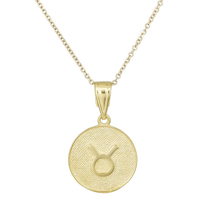 Γυναικείο κολιέ Κ9 Ταύρος 027743 027743 Χρυσός 9 Καράτια