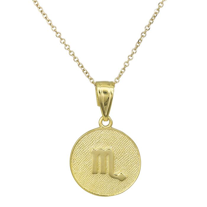 Χρυσό κολιέ Κ9 Σκορπιός 027749 027749 Χρυσός 9 Καράτια