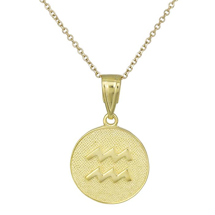 Χρυσό κολιέ Κ9 Υδροχόος 027752 027752 Χρυσός 9 Καράτια