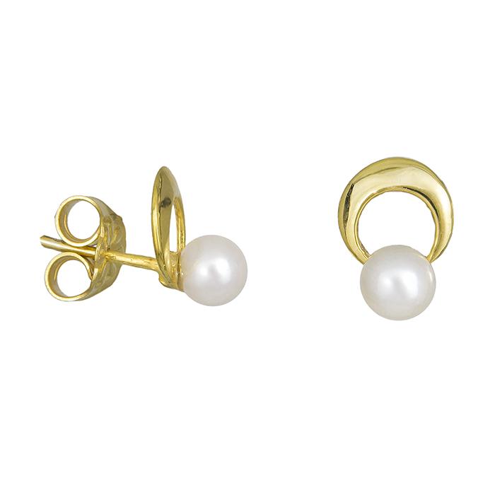 Γυναικεία σκουλαρίκια Κ14 με μαργαριτάρια 027780 027780 Χρυσός 14 Καράτια