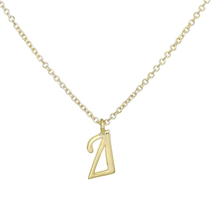Γυναικείο μονόγραμμα Δ Κ9 027851 027851 Χρυσός 9 Καράτια